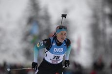 13.12.2019, Hochfilzen, Austria (AUT):Anais Bescond (FRA) - IBU world cup biathlon, sprint women, Hochfilzen (AUT). www.nordicfocus.com. © Manzoni/NordicFocus. Every downloaded picture is fee-liable.