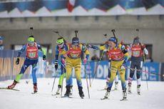 14.12.2019, Hochfilzen, Austria (AUT):Elvira Oeberg (SWE), Linn Persson (SWE) - IBU world cup biathlon, relay women, Hochfilzen (AUT). www.nordicfocus.com. © Manzoni/NordicFocus. Every downloaded picture is fee-liable.