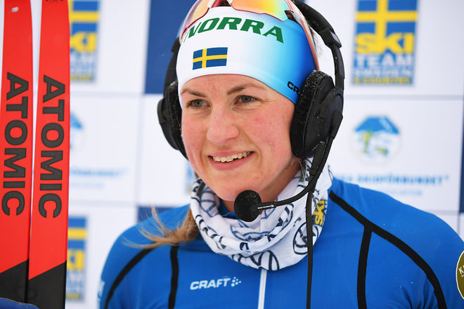 LINN SÖMSKAR var bästa svenska åkare i Skandinaviska cupens  fristilslopp i Vuokatti under söndagen. Foto/rights: ROLF ZETTERBEG/kekstock.com