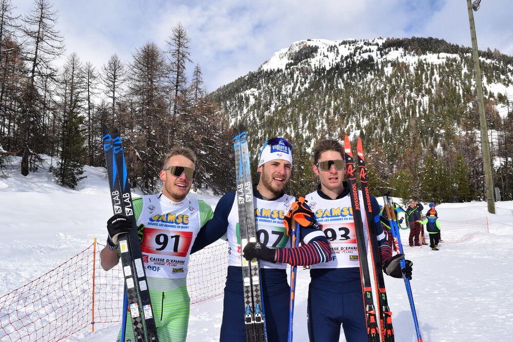 Podium sénior hommes - Coupe de France de ski de fond QUEYRAS