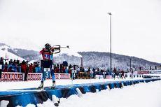 14.12.2019, Hochfilzen, Austria (AUT):Lena Haecki (SUI) - IBU world cup biathlon, relay women, Hochfilzen (AUT). www.nordicfocus.com. © Manzoni/NordicFocus. Every downloaded picture is fee-liable.