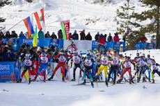 15.12.2019, Hochfilzen, Austria (AUT):Johannes Dale (NOR), Matvey Eliseev (RUS), Lukas Hofer (ITA), Antonin Guigonnat (FRA), Peppe Femling (SWE), Artem Tyshchenko (UKR), Miha Dovzan (SLO), Philipp Horn (GER), Krasimir Anev (BUL), Florent Claude (BEL), (l