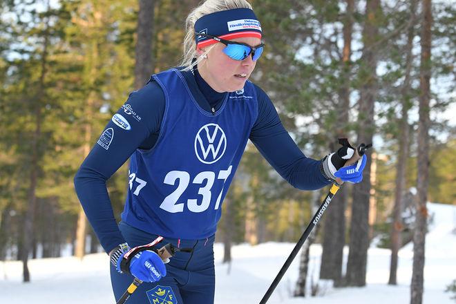 SANDRA OLSSON vann en ganska tunn damklass i Björnjakten i Älvdalen i helgen. Foto/rights: ROLF ZETTERBERG/kekstock.com