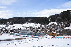 18.12.2019, Annecy-Le Grand Bornand, France (FRA):Event Feature: overview over the stadium - IBU world cup biathlon, training, Annecy-Le Grand Bornand (FRA). www.nordicfocus.com. © Manzoni/NordicFocus. Every downloaded picture is fee-liable.
