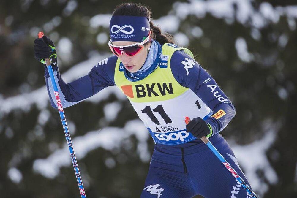 15.12.2019, Davos, Switzerland (SUI):Ilaria Debertolis (ITA) - FIS world cup cross-country, 10km women, Davos (SUI). www.nordicfocus.com. © Modica/NordicFocus. Every downloaded picture is fee-liable.