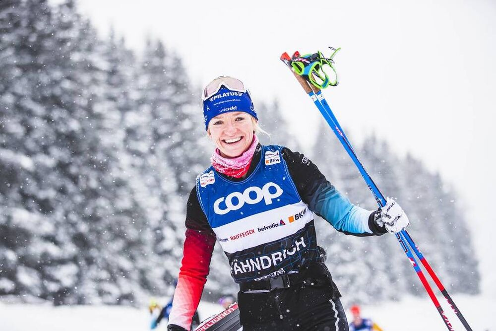13.12.2019, Davos, Switzerland (SUI):Nadine Faehndrich (SUI) - FIS world cup cross-country, training, Davos (SUI). www.nordicfocus.com. © Modica/NordicFocus. Every downloaded picture is fee-liable.