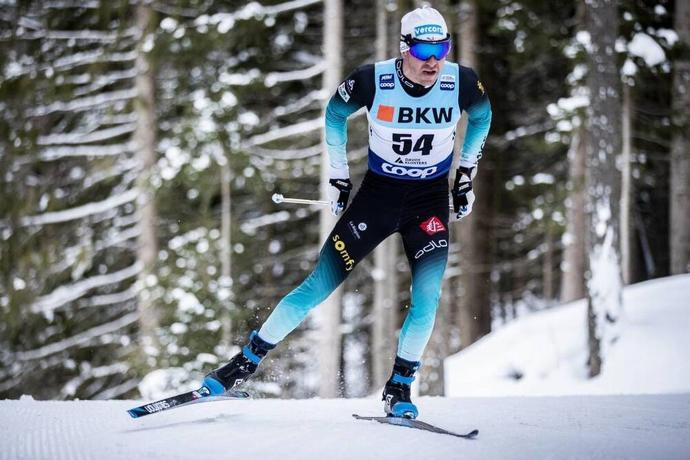 15.12.2019, Davos, Switzerland (SUI):Maurice Manificat (FRA) - FIS world cup cross-country, 15km men, Davos (SUI). www.nordicfocus.com. © Modica/NordicFocus. Every downloaded picture is fee-liable.