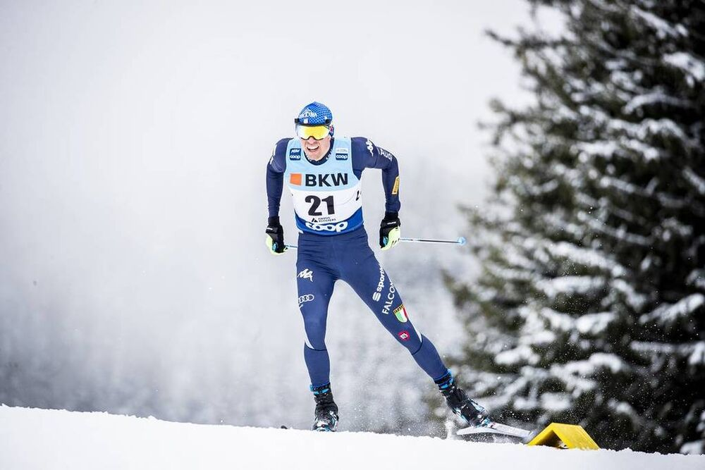 14.12.2019, Davos, Switzerland (SUI):Francesco De Fabiani (ITA) - FIS world cup cross-country, individual sprint, Davos (SUI). www.nordicfocus.com. © Modica/NordicFocus. Every downloaded picture is fee-liable.