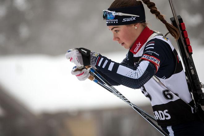 SARA ANDERSSON tog brons tillsammans med Oscar Andersson på den mixade stafetten vid ungdom-OS i schweiziska Lausanne. Foto: PER DANIELSSON