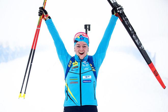 CHARDINE SLOOF vann damernas jaktstart i Sverige-cupen i skidskytte i Lima. Foto: PER DANIELSSON/skidskytteförbundet