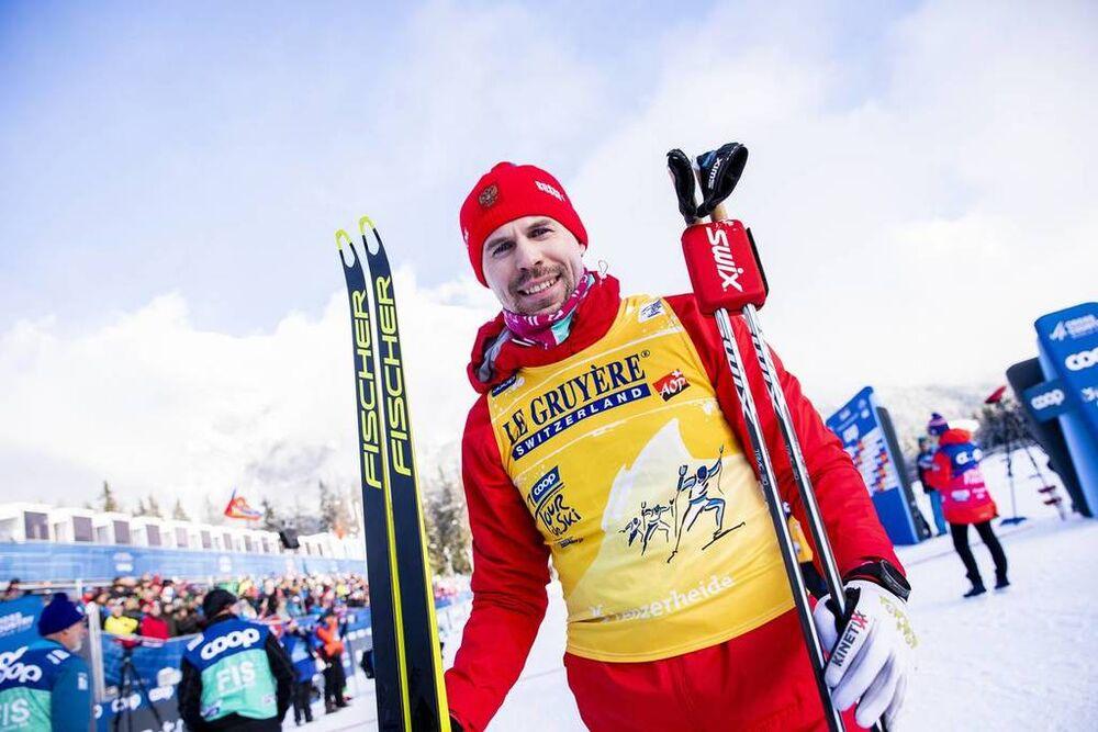 28.12.2019, Lenzerheide, Switzerland (SUI):Sergey Ustiugov (RUS) - FIS world cup cross-country, tour de ski, mass women, Lenzerheide (SUI). www.nordicfocus.com. © Modica/NordicFocus. Every downloaded picture is fee-liable.