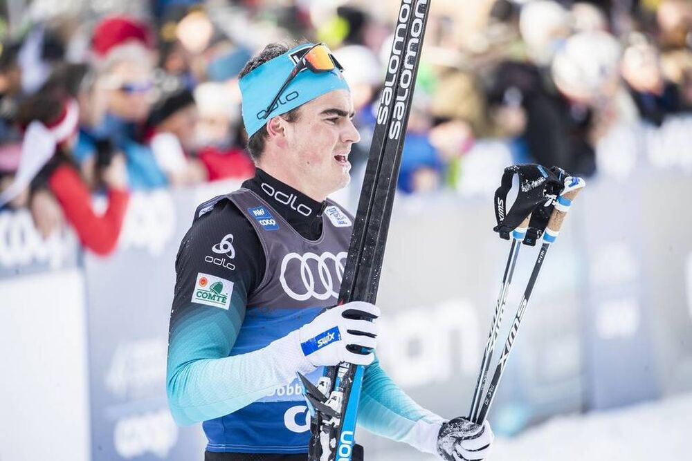 31.12.2019, Toblach, Italy (ITA):Jules Chappaz (FRA) - FIS world cup cross-country, tour de ski, 10km women, Toblach (ITA). www.nordicfocus.com. © Modica/NordicFocus. Every downloaded picture is fee-liable.