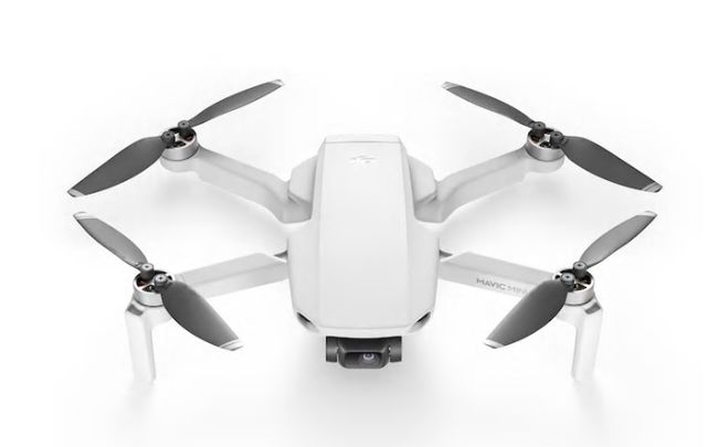 hvit drone