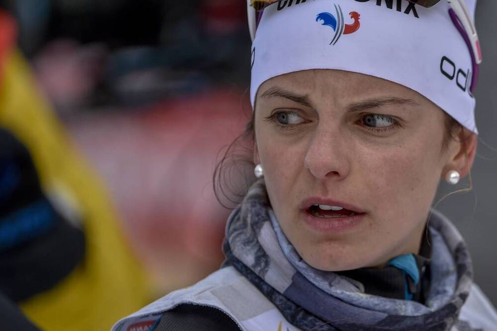28.01.2018, Seefeld, Austria (AUT):Coralie Bentz (FRA) - FIS world cup cross-country, mass women, Seefeld (AUT). www.nordicfocus.com. © Thibaut/NordicFocus. Every downloaded picture is fee-liable.