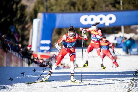 05.01.2020, Val di Fiemme, Italy (ITA):Heidi Weng (NOR) - FIS world cup cross-country, tour de ski, final climb women, Val di Fiemme (ITA). www.nordicfocus.com. © Modica/NordicFocus. Every downloaded picture is fee-liable.