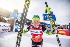 04.01.2020, Val di Fiemme, Italy (ITA):Anamarija Lampic (SLO) - FIS world cup cross-country, tour de ski, individual sprint, Val di Fiemme (ITA). www.nordicfocus.com. © Modica/NordicFocus. Every downloaded picture is fee-liable.