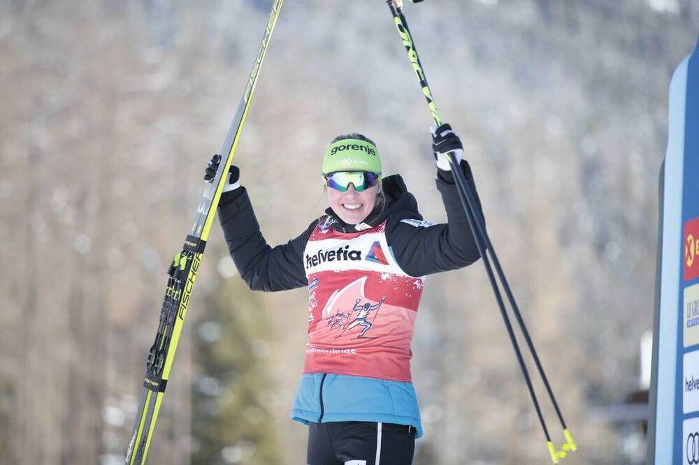 29.12.2019, Lenzerheide, Switzerland (SUI):Anamarija Lampic (SLO) - FIS world cup cross-country, tour de ski, individual sprint, Lenzerheide (SUI). www.nordicfocus.com. © Modica/NordicFocus. Every downloaded picture is fee-liable.