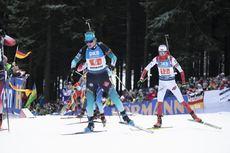 11.01.2020, Oberhof, Germany (GER):Julia Simon (FRA), Monika Hojnisz-Starega (POL), (l-r) -  IBU world cup biathlon, relay women, Oberhof (GER). www.nordicfocus.com. © Manzoni/NordicFocus. Every downloaded picture is fee-liable.