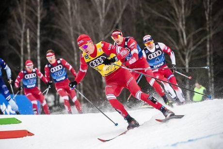 03.01.2020, Val di Fiemme, Italy (ITA):Alexander Bolshunov (RUS) - FIS world cup cross-country, tour de ski, mass men, Val di Fiemme (ITA). www.nordicfocus.com. © Modica/NordicFocus. Every downloaded picture is fee-liable.