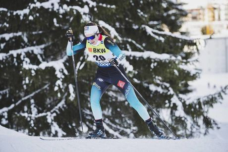 15.12.2019, Davos, Switzerland (SUI):Laura Chamiot Maitral (FRA) - FIS world cup cross-country, 10km women, Davos (SUI). www.nordicfocus.com. © Modica/NordicFocus. Every downloaded picture is fee-liable.