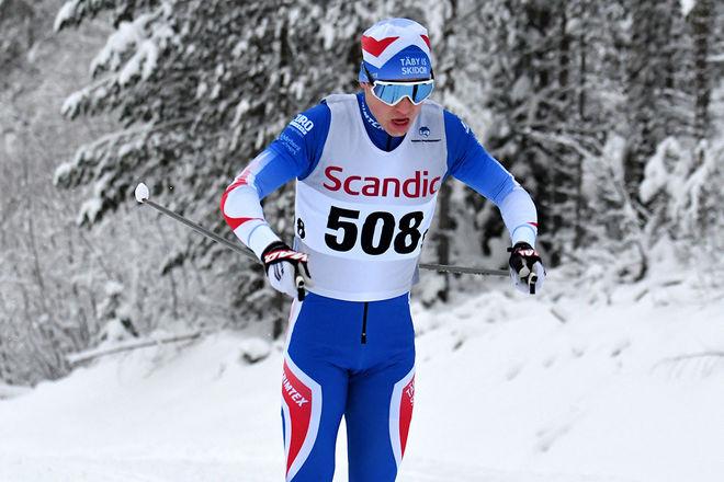 MÅNS SKOGLUND från Täby är en av dom lovande juniorerna som får åka i landslaget i den nordiska juniorlandskampen i Falun. Foto/rights: ROLF ZETTERBERG/kekstock.com