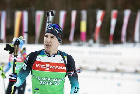 14.01.2020, Ruhpolding, Germany (GER):Quentin Fillon Maillet (FRA) -  IBU world cup biathlon, training, Ruhpolding (GER). www.nordicfocus.com. © Manzoni/NordicFocus. Every downloaded picture is fee-liable.