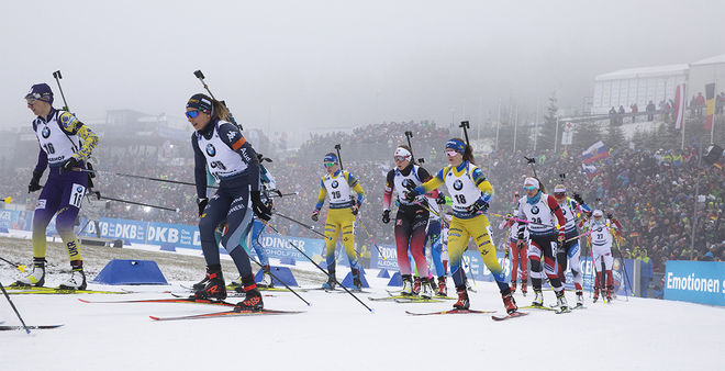 12.01.2020, Oberhof, Germany (GER):Lisa Vittozzi (ITA) -  IBU world cup biathlon, mass women, Oberhof (GER). www.nordicfocus.com. © Manzoni/NordicFocus. Every downloaded picture is fee-liable.