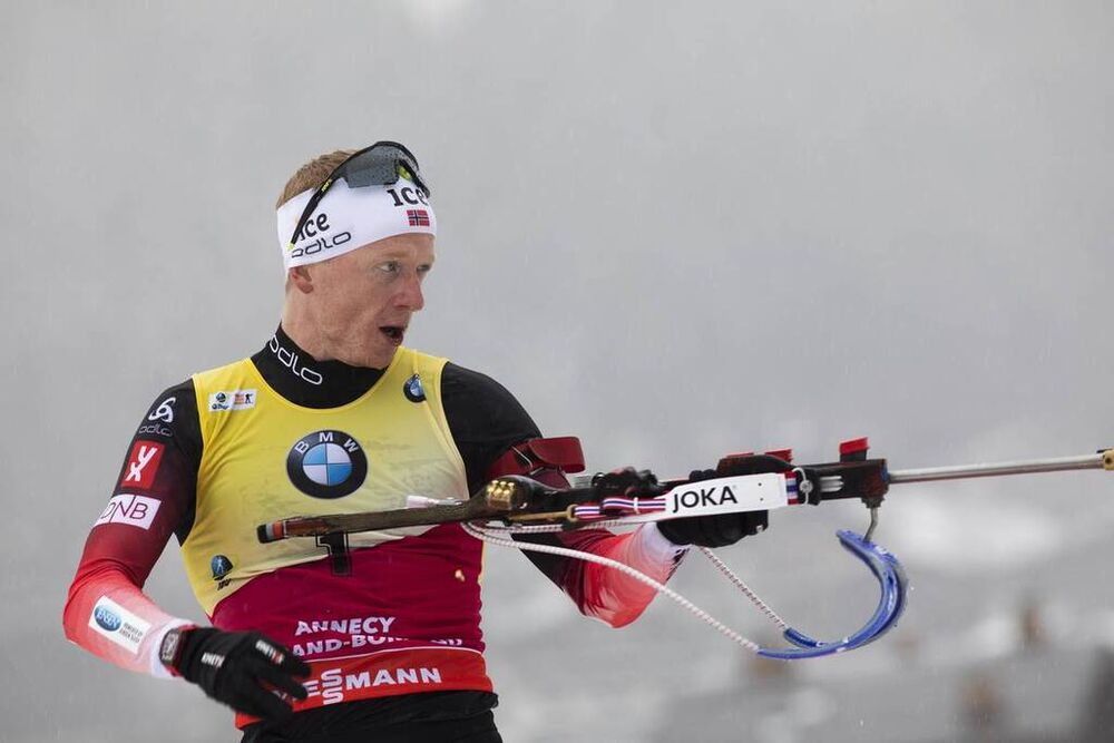 22.12.2019, Annecy-Le Grand Bornand, France (FRA):Johannes Thingnes Boe (NOR) -  IBU world cup biathlon, mass men, Annecy-Le Grand Bornand (FRA). www.nordicfocus.com. © Manzoni/NordicFocus. Every downloaded picture is fee-liable.