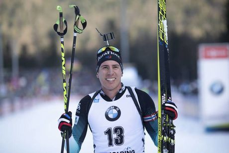 16.01.2020, Ruhpolding, Germany (GER):Quentin Fillon Maillet (FRA) -  IBU world cup biathlon, sprint men, Ruhpolding (GER). www.nordicfocus.com. © Manzoni/NordicFocus. Every downloaded picture is fee-liable.