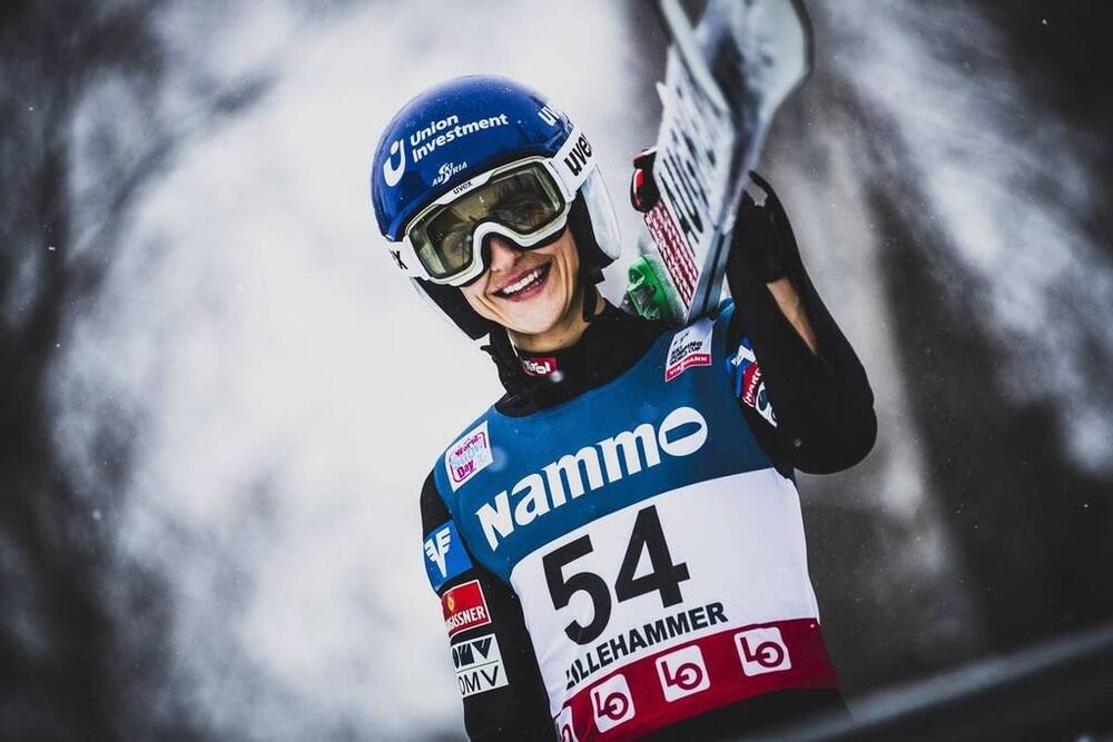 08.12.2019, Lillehammer, Norway (NOR):Eva Pinkelnig (AUT) - FIS world cup ski jumping ladies, individual HS140, Lillehammer (NOR). www.nordicfocus.com. © Modica/NordicFocus. Every downloaded picture is fee-liable.