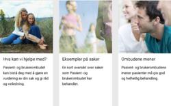 Illustrasjonsbilde fra presentasjon av pasient- og brukerombudene på helsenorge.no
