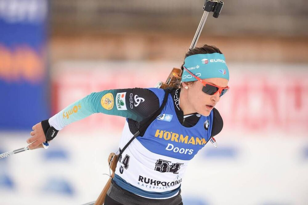 15.01.2020, Ruhpolding, Germany (GER):Celia Aymonier (FRA) -  IBU world cup biathlon, sprint women, Ruhpolding (GER). www.nordicfocus.com. © Tumashov/NordicFocus. Every downloaded picture is fee-liable.