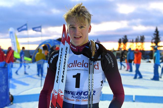 EDVIN ANGER är en av Sveriges mest lovande juniorer. Nu byter han till Åsarna IK och blir klubbkompis med bland annat Jens Burman. Foto/rights: ROLF ZETTERBERG/kekstock.com