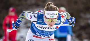 04.01.2020, Val di Fiemme, Italy (ITA):Ebba Andersson (SWE) - FIS world cup cross-country, tour de ski, individual sprint, Val di Fiemme (ITA). www.nordicfocus.com. © Modica/NordicFocus. Every downloaded picture is fee-liable.