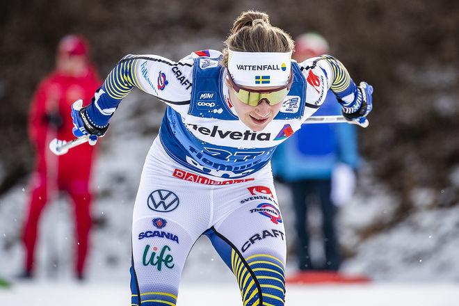 EBBA ANDERSSON slutade 6:a i jaktstarten i tjeckiska Nove Mesto na Morave. Foto: NORDIC FOCUS
