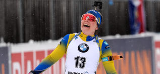 19.01.2020, Ruhpolding, Germany (GER):Johanna Skottheim (SWE) -  IBU world cup biathlon, pursuit women, Ruhpolding (GER). www.nordicfocus.com. © Tumashov/NordicFocus. Every downloaded picture is fee-liable.