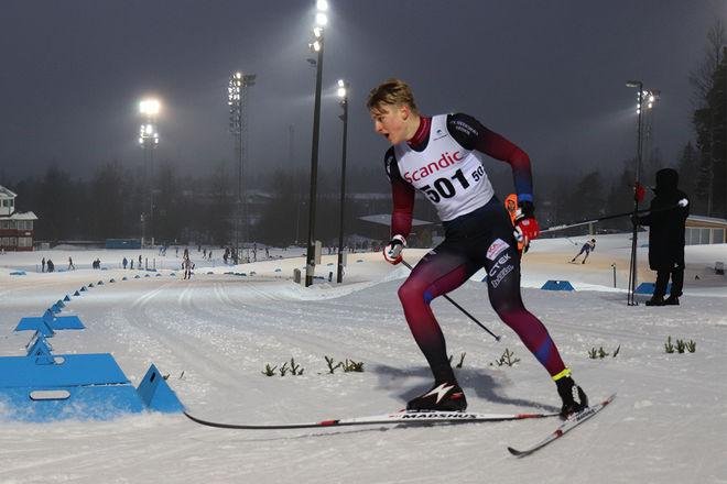 EDVIN ANGER tog guld på sprinten vid ungdoms-OS i Lausanne. Två medaljer har nu dalaåkaren på två dagar. Foto/rights: MATTIAS BÅNGMAN/kekstock.com