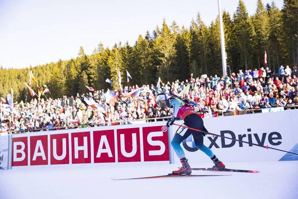 07.12.2018, Pokljuka, Slovenia (SLO):Martin Fourcade (FRA) - IBU world cup biathlon, sprint men, Pokljuka (SLO). www.nordicfocus.com. © Manzoni/NordicFocus. Every downloaded picture is fee-liable.