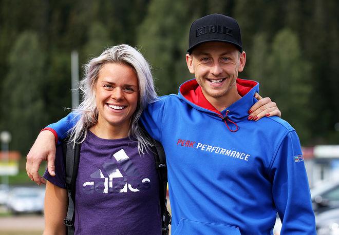 SAMBOPARET Lovisa Modig och Oscar Persson, SK Bore Torsby vann dom båda huvudklasserna i Moraloppet 2020 i helgen. Foto/rights: KJELL-ERIK KRISTIANSEN/kekstock.com