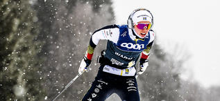 18.01.2020, Nove Mesto, Czech Republic (CZE):Emma Ribom (SWE) - FIS world cup cross-country, 15km men, Nove Mesto (CZE). www.nordicfocus.com. © Modica/NordicFocus. Every downloaded picture is fee-liable.
