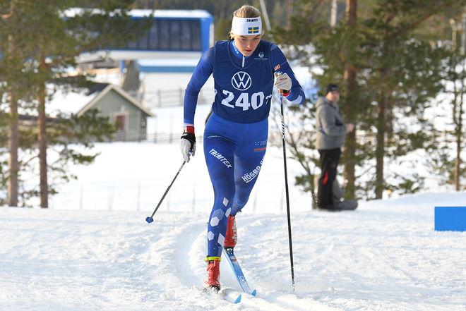 LOUISE LINDSTRÖM, Högbo vann med över minuten i D19-20 i Scandic Cup på Lugnet i Falun. Foto/rights: ROLF ZETTERBERG/kekstock.com