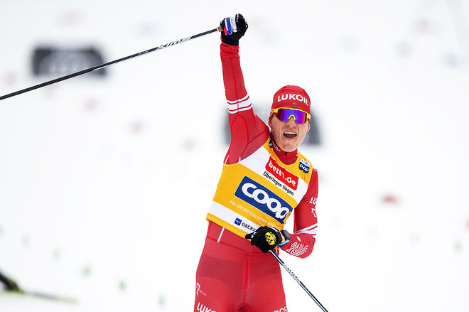 ALEXANDER BOLSHUNOV viser inga tecken på dålig form efter segern i Tour de Ski. Nu vann han också för-VM i Oberstdorf. Foto: NORDIC FOCUS