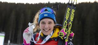 26.01.2020, Pokljuka, Slovenia (SLO):Hanna Oeberg (SWE) -  IBU world cup biathlon, mass women, Pokljuka (SLO). www.nordicfocus.com. © Manzoni/NordicFocus. Every downloaded picture is fee-liable.