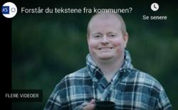 Illustrasjonsbilde fra KS-video om klart språk.