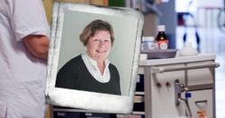 Elin Hegdal er spesialhjelpepleier og tillitsvalgt i hjemmetjenesten i Inderøy kommune for Fagforbundet. Privat. Illustrasjonsfoto bak: Tri Nguyen Dinh