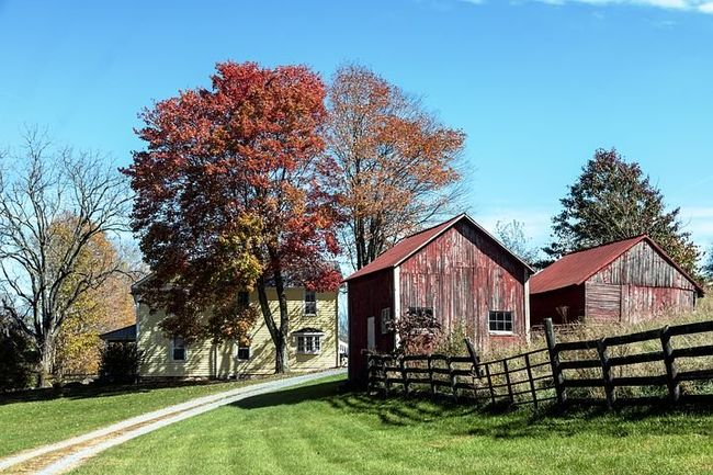 gammel gård