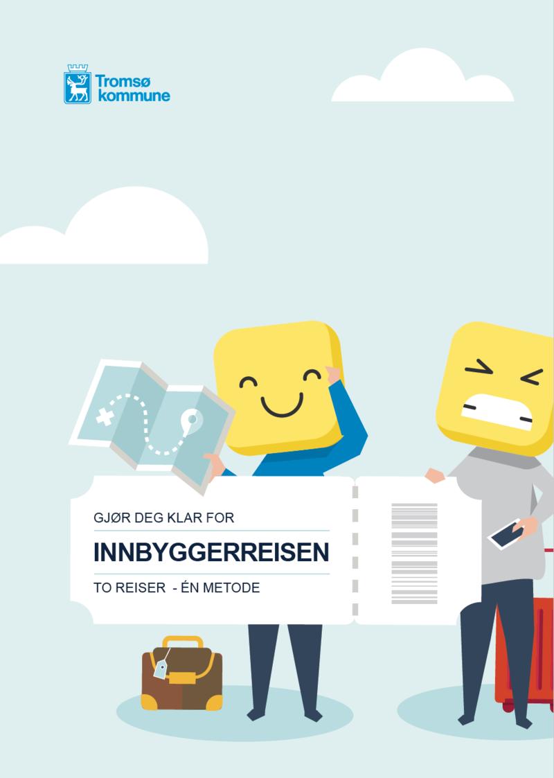 Fra forsiden av Bruksanvisning klart språk og tjenestedesign. Tromsø kommune.
