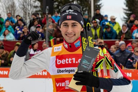 26.01.2020, Oberstdorf, Germany (GER):Jarl Magnus Riiber (NOR) - FIS world cup nordic combined, individual gundersen HS140/10km, Oberstdorf (GER). www.nordicfocus.com. © Volk/NordicFocus. Every downloaded picture is fee-liable.