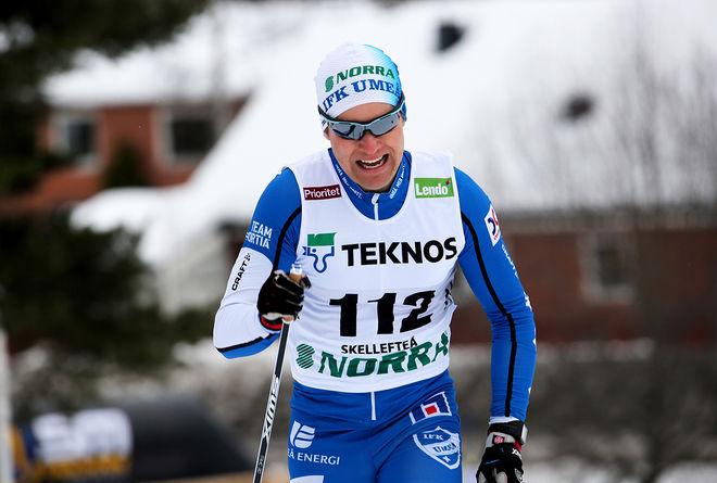 ERIK SILFVER vann det 40 km långa Umeloppet på hemmaplan i Umeå. Foto/rights: KJELL-ERIK KRISTIANSEN/kekstock.com