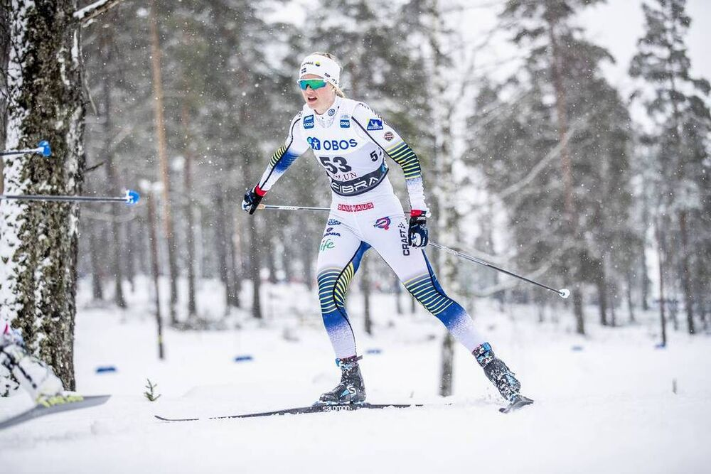 17.03.2019, Falun, Sweden (SWE):Maja Dahlqvist (SWE) - FIS world cup cross-country, 10km women, Falun (SWE). www.nordicfocus.com. © Modica/NordicFocus. Every downloaded picture is fee-liable.